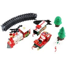 -Lights And Sounds Christmas Train Set Railway Tracks Toys Xmas Train Gift on JD
