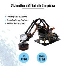 -Robotic Arm 4DOF Mechanical Metal Clamp Claw Kit DIY Education Kid Gift Toy with Servo Controller Free PC Software APP for Program on JD