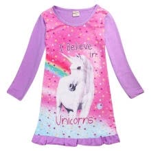 -Kids Unicorn Horse Top T Shirts Dress Nightwear Nightdress Pyjamas Clothes Gift on JD