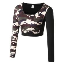 -New arrived Leisure Catton Design T-shirt  Printed  Camouflage O-neck Summer Long Sleeve T-Shirts Female Sexy Thin Girl T-shirt on JD