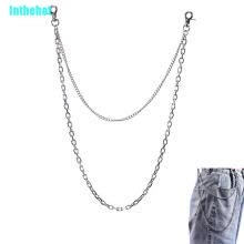 -Double Layer Punk Metal Hipster Jean Belt Keychain Rock Waist Chain Jewelry Gift on JD