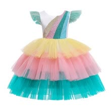 -Aimik Kids Girls Sequin Princess Bridesmaid Pageant Gown Birthday Party Wedding Dress on JD