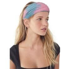 headbands-Fashion and creative lady personalized tie-dye hair band hip-hop head rope yoga sports fitness elastic wide hair band temperam on JD