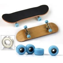 finger-puppets-New Style Fashion Type Bearing Wheels Wood Material Finger Skateboard Kids Children Fingerboard Novelty Funny Toy S2 on JD