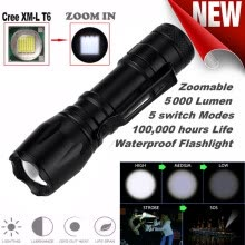 lights-lanterns-Super Bright T6 14500 Zoomable LED Flashlight Torch Lamp 5 Modes on JD