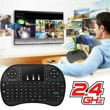 -Mini Wireless Keyboard Touchpad Air Mouse Remote Fingerboard Battery Supply for Android TV Box/Windows/PC on JD