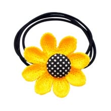 -2019 Women Elegant And Fashion Design Sweet Hair Accessories Sunflower Cute Hair Ring Rubber Band Simple High Elastic Hair Rope on JD