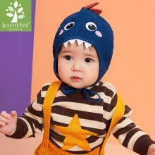 -kocotree baby hat autumn and winter thickening warm cartoon fashion ear caps infant baby hat tire cap navy blue dinosaur S on JD