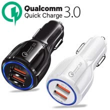 875062575-Qualcomm QC3.0 Certified Quick Charge Dual 2 USB Port QC3.0 Fast Car Charger 36W on JD