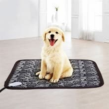 -Dog Cat Electric Heating Pad Indoor Waterproof Adjustable Print Warming Pet Mat with Chew Resistant Steel Cord Mats on JD