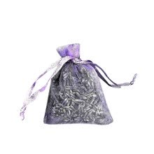 -12 Bags of Dried Lavender in Small Lilac Organza Bags -Real Flower Wedding on JD