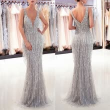 -Women Formal Prom Party Ball Gown Sexy Sleeveless Backless  Long Dresses on JD