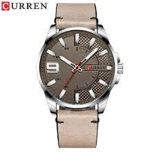-Curren Men Watch Fashion Business Luminous Hands Quartz Watch Classic Exquisite Alloy Case Leather Band Waterproof Wrist Watch on JD