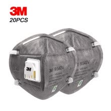 -3M 9542V KN95 Particulate Respirator with Valve Actived Carbon  Protective Masks Safety  Anti-dust Fog Haze Head-mounted Face Mout on JD
