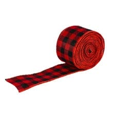 belts-cummerbunds-Sunisery Christmas Plaid Ribbon, DIY Decoration for Gift Tree Stair Railing Table on JD
