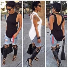 -Fashion Ladies Women Summer Vest Top Sleeveless Blouse Casual Tank Tops T-Shirt on JD