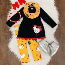 -Thanksgiving Kids Baby Girls 2T-7T Outfits Clothes T-shirt Tops Dress +Long Pants on JD