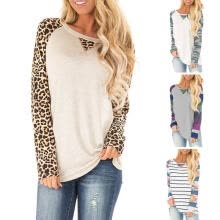-Loose Tops Autumn Winter Daily Women T Shirt Crew Neck Long Sleeves Polyester on JD