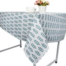 -Leaf Dining Tablecloth Cotton Linen Rustic Rectangle Washable Table Cover on JD