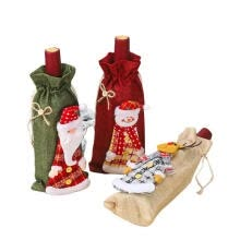 financial-management-Christmas Wine Cover Bags Cute Snowman Santa Claus Elk Wine Bottle Bag New Year Dinner Decoration on JD