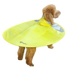 8750208-Huayuan pets hoopet dog raincoat flying saucer vibrating Teddy clothes four feet waterproof cloak small dog puppies all-inclusive pet poncho XL on JD