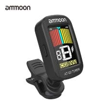 -ammoon AT-03 Clip-on Electric Tuner Color LCD Screen 360° Rotatable for Guitar Bass Violin Chromatic Ukulele Universal Exquisite P on JD