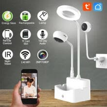 -1080P Camera 10 Infrared Lights LED Tube USB Charging Indicator HD Monitoring Table Lamp Camera on JD