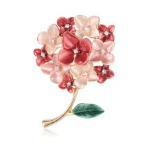 -Jsqnanchi Alloy Drop Oil Pearl Flower Corsage Brooch on JD