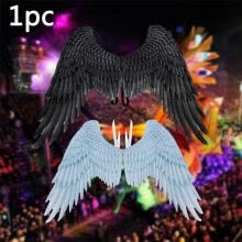 -Halloween 3D Angel Wings Mardi Gras Theme Party Cosplay Wings For Children Adult Big Large Black Wings Devil Costume on JD