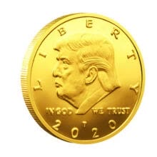 souvenirs-2020 President Donald Trump Inaugural Gold Plated Commemorative Novelty Coin on JD