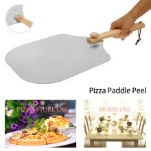 -Willstar 26' Pizza Peel Shovel Paddle Pancake Oven Baking Tools Wood Handle Aluminum on JD