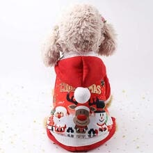 -Cute Christmas Dog Clothes Winter Pet Products Pets Coats Soft Cotton Puppy Dog T shirt Puppy Costume Clothes For Dog XS-2XL on JD