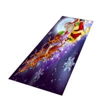 periodicals-and-magazines-Christmas Floor Mat, Cute Santa Snowflake Bell Area Rug Washable Carpet for Bathroom Bedroom Kitchen on JD