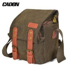 -CADeN Canvas Shoulder Camera Bag Messenger Bag for 1 Camera 1 Lens Compatible with    DSLR Mirrorless Camera and Lens on JD