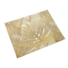 -Gold Leaf Placemat  Coffee Table Tablecloths Cotton Linen Placemats Single-sided Printing Waterproof Placemat new on JD