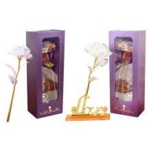 -24k Gold Foil Rose Galaxy, Artificial Long Stem Flower, Gift for Valentine on JD