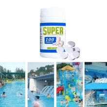 -50/100pcs Magic Pool Cleaning Effervescent Chlorine Tablets Cage Disonfectant Swimming Pool Clarifier on JD