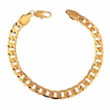 -Classic Charm Chain 18K Gold Bracelet Luxury Jewelry Gift for Lady Girl Boy Men Unisex on JD
