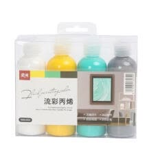 -4 Colors Fabric Paint Set Kit 100g Each Bottle Textile Paint for Canvas Ceramic Art & DIY Projects Graffiti Liquid Fluid Painting on JD