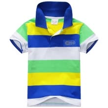 -6 Colors Children T-Shirt Baby Boys Multi Color Short Sleeve Striped Cotton Tops Blouse Suitable For Dressing on JD
