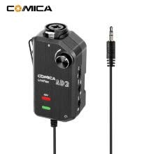 -CoMica LinkFlex AD2 XLR /6.35mm-3.5mm Microphone Preamp Amplifier Audio Adapter Universal for Camera Smartphone Guitar Interface on JD