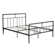 -Metal Bed Frame Queen with Headboard and Footboard, Noise-Free and Anti-Slip Mattress Foundation,Platform Bed Frame No Box Spring on JD