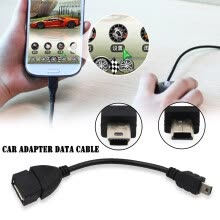 -Mini Usb 5P Male to Otg Usb Female Car Adapter Data Cable for Video Camera Audio Tablet Cd Gps on JD