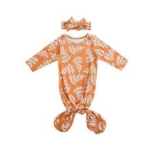 -Baby Girls Fall Sleeping Bags+Headband Leaf Print Long Sleeve Sleepwear 2pcs on JD