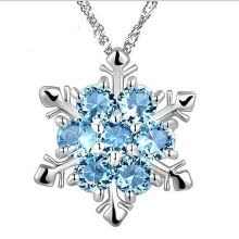 -Dido Women's Natural Stone Necklace Crystal Silver Plating Snowflake Style Pendant on JD