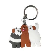 -Cute We Bare Bears Figures Keychain Keyring Grizzly Panda Ice Bear Cartoon Pendants Animal Series Silica gel Key Ring toy Gift on JD