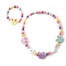 -Children Cartoon Necklace Colorful Animal Kid Jewelry Floral Beads Fashion Bracelet Accessories on JD