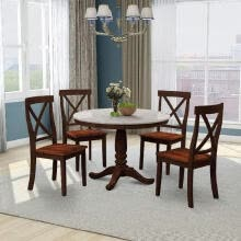 -5 Pieces Dining Table and Chairs Set for 4 Persons, Kitchen Room Solid Wood Table with 4 Chairs on JD