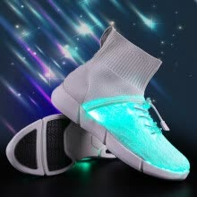 875062575-High-top LED light shoes shoes men and women children's sports shoes jellyfish shoes flying woven coconut shoes fiber-optic shoes on JD