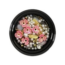 -Toyfunnuy Nail Art Charms, Shell Flowers, Alloy Jewelry, Rhinestones Nail Bead Decoration on JD